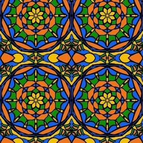 Orange Grove Stained Glass -Medium Scale