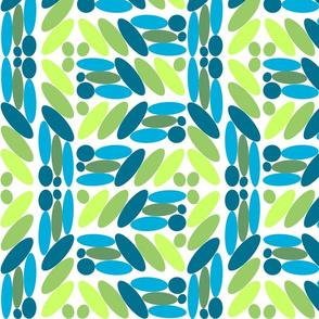 blue green ovals