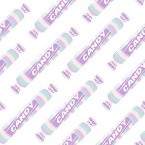 candy rolls -  tablet candy - pastel purple - LAD19
