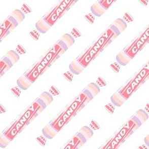 candy rolls -  tablet candy - pastel pink - LAD19