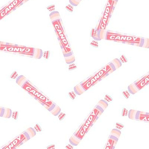candy rolls -  tablet candy - pastel pink toss - LAD19