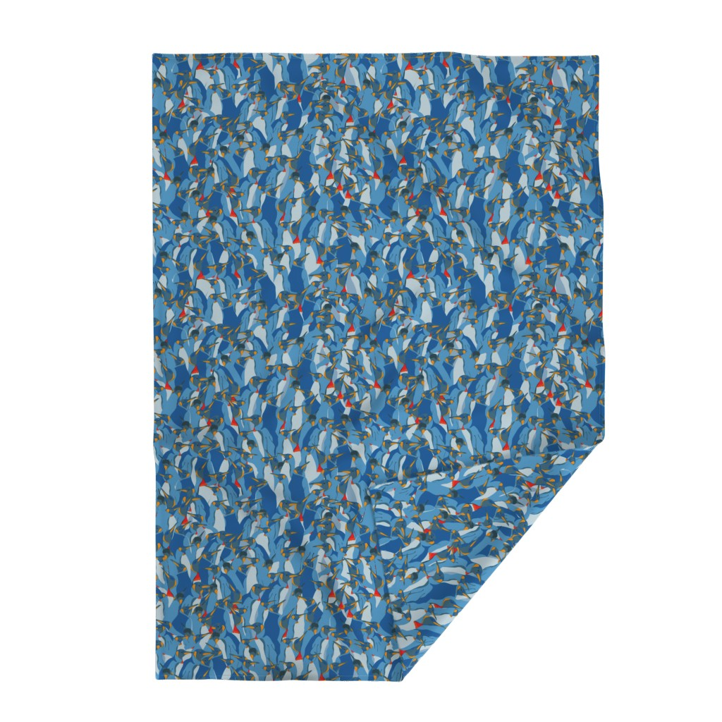 Lakenvelder Throw Blanket featuring Blue penguin crowd by friedlosundstreitsuechtig