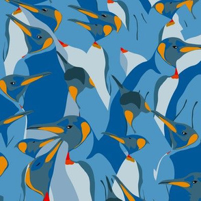 Blue penguin crowd