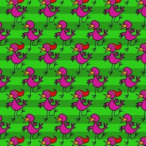 Happy dancing bird -christmas