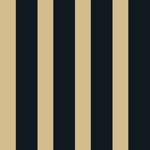 The Gold and the Black: Plain Small Stripes