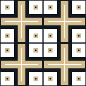 The Gold and the Black: Modern Squares