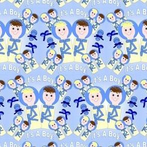 It's A Boy! Swaddling Dolls Fabric