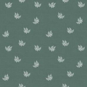FeatheryFern_Linen Enamel Green