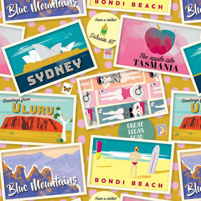Retro Aussie Postcard by Mount Vic and Me