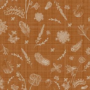 feathers n wildflowers rust 2