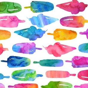 Watercolor Rainbows And Hearts - Small
