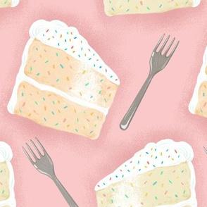 Confetti cake slices