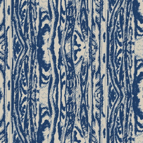 Flowing Totem #2 Navy on Taupe
