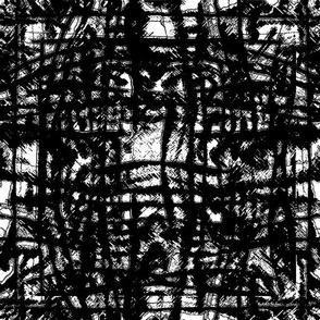 Flowing Totem #3 Black on White