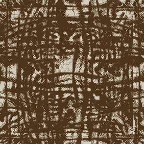 Flowing Totem #3 Brown on Taupe
