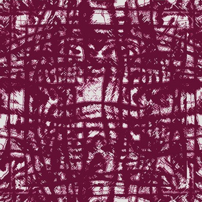 Flowing Totem #3 Cranberry on Gray