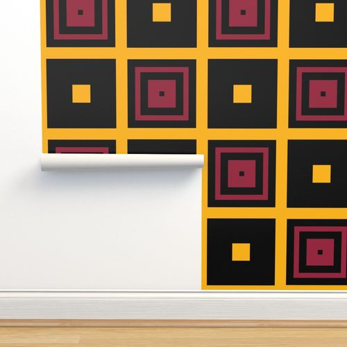 The Black The Yellow And The Red Checke Spoonflower