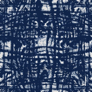 Flowing Totem #3 Navy on Gray