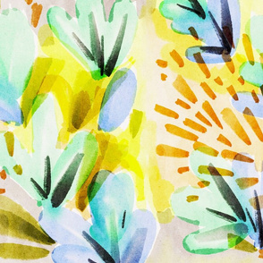 Watercolour Abstract Floral Acid