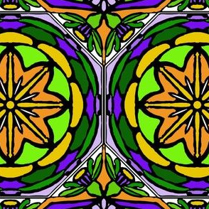 Stained Glass Bell Flowers (#1)