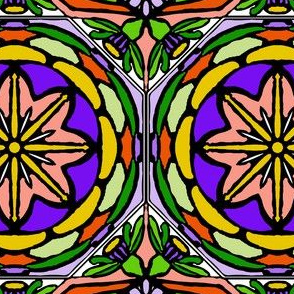 Stained Glass Bell Flowers (#2)