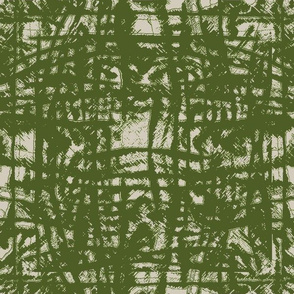 Flowing Totem #3 Olive on Taupe