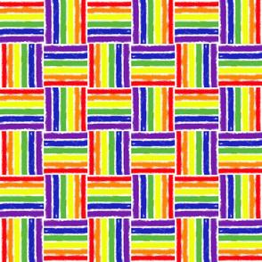 Rainbow Basketweave