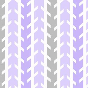 Purple Lavender Gray Grey Arrow Chevron