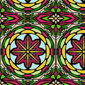 Stained Glass Bell Flowers (#3)