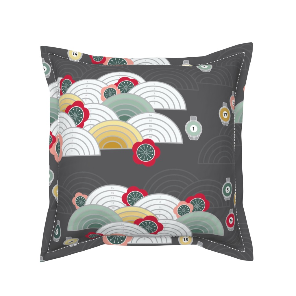 Serama Throw Pillow featuring Paint by Numbers Literally by twigged