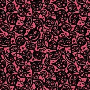 Black Cat Mask on Pink