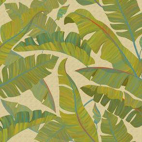 Banana Leaves beige