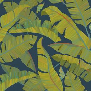 Banana Leaves blue