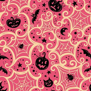 Pink and Cream Spooky Cobwebs