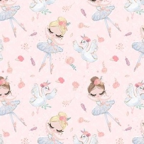 Ballerina Swans pink