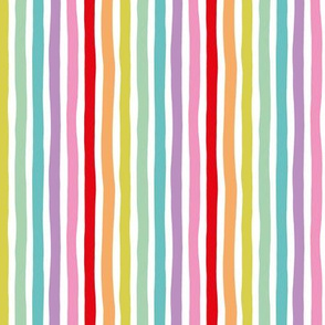 Rainbow vertical beams abstract stripes trend colorful modern minimal design multi color SMALL