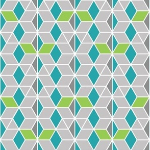 Green abstract honeycomb lattice
