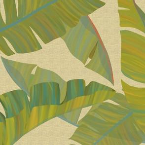 Large Banana Leaves beige texture