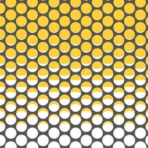 Minimalist Moon Phases Dots grey yellow