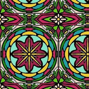 Stained Glass Bell Flowers (#4)
