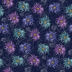 Navy Floral Pastels