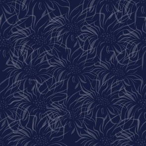 Navy Faded Floral