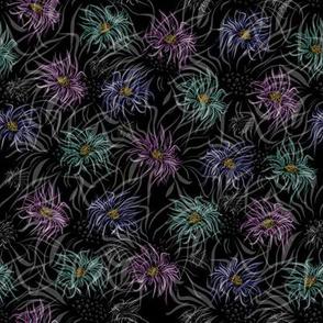 Many Floral Midnight