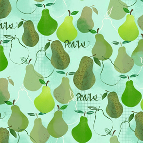 Pears in Repeat - Large