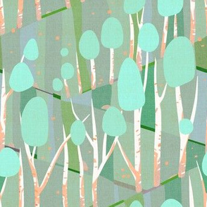 Birch Forest Paint by Number