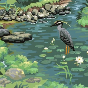 Heron Woods - a Sylvan Paint by Number