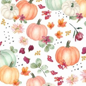 pumpkin fall floral