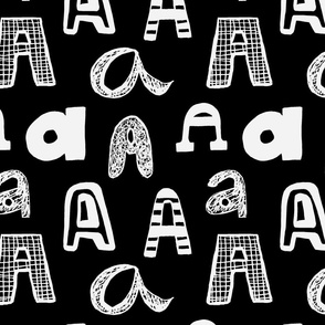 Letter A Black and Grey