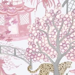 Leopards in the Pagoda Forest Blush Pinks