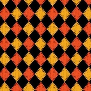 Checkered Diamond Vintage Halloween